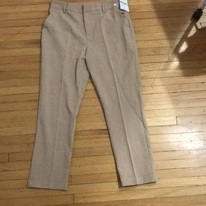 Forever 21 tan cuff dress ankle woven pants